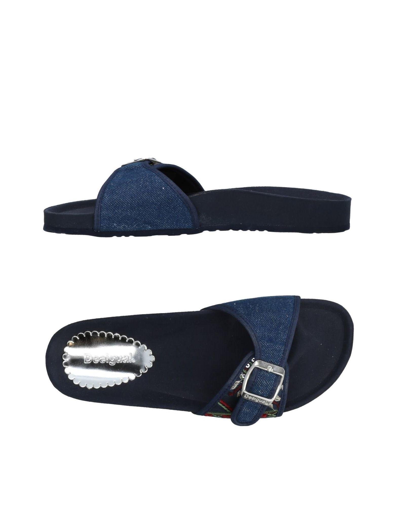 《送料無料》DESIGUAL レディース サンダル ブルー 37 紡績繊維