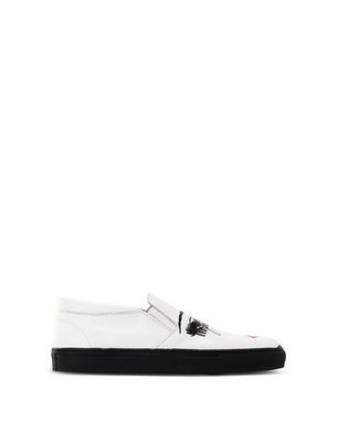 Women'S Leather Slip-On Sneakers, White