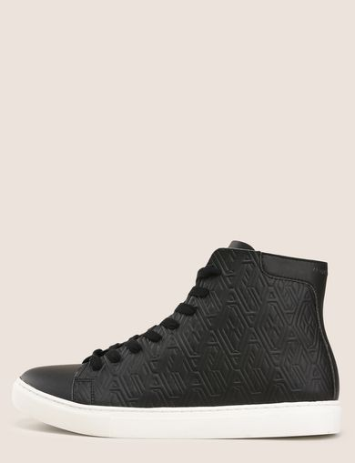 EMBOSSED GEOMETRIC LOGO HIGHTOP