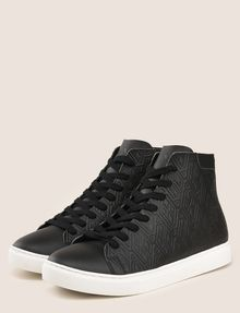 ARMANI EXCHANGE EMBOSSED GEOMETRIC LOGO HIGHTOP Sneakers Man r