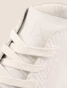 ARMANI EXCHANGE EMBOSSED GEOMETRIC LOGO HIGHTOP Sneakers Man a