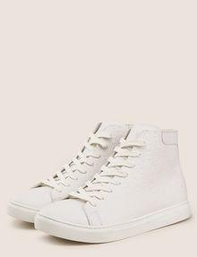 ARMANI EXCHANGE EMBOSSED GEOMETRIC LOGO HIGHTOP Sneakers Man r