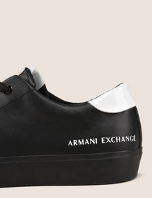 ARMANI EXCHANGE PATENT-DETAIL COLORBLOCKED LOW-TOP Sneakers Woman a