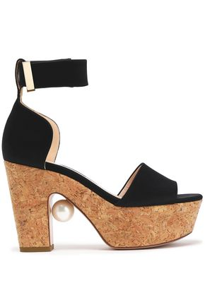 NICHOLAS KIRKWOOD Satin platform sandals
