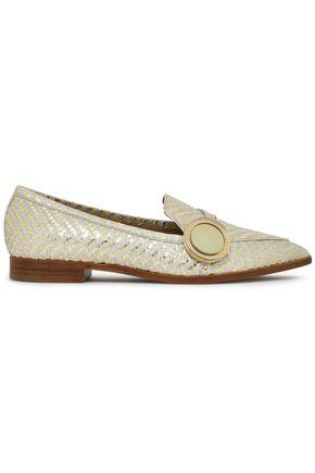 NICHOLAS KIRKWOOD Embellished python loafers