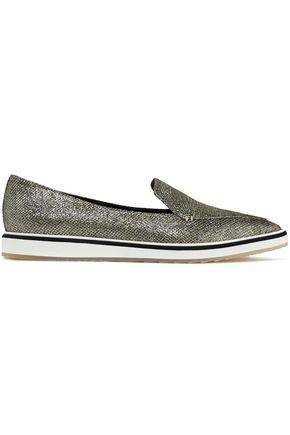 NICHOLAS KIRKWOOD Metallic woven slip-on sneakers