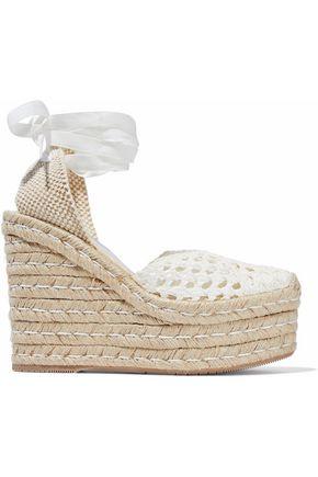 PALOMA BARCELÓ Ester woven leather espadrille wedge sandals
