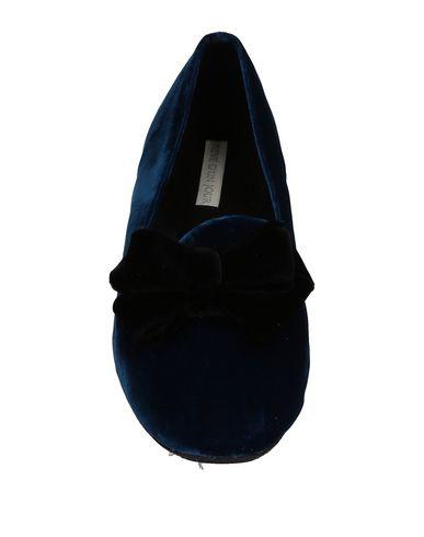 Фото 2 - Женские мокасины  темно-синего цвета