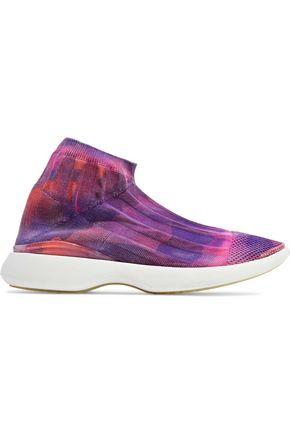 ACNE STUDIOS Batilda L printed stretch-knit slip-on sneakers
