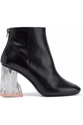 ACNE STUDIOS Ora Glass textured-leather ankle boots
