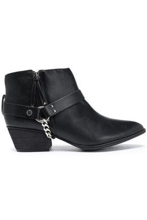 SCHUTZ Embellished leather ankle boots