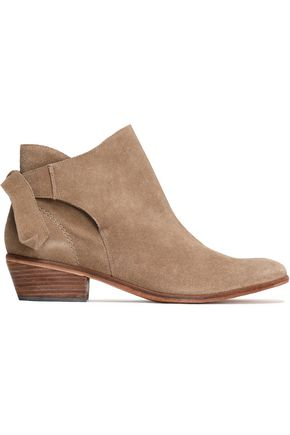 SCHUTZ Knotted suede ankle boots