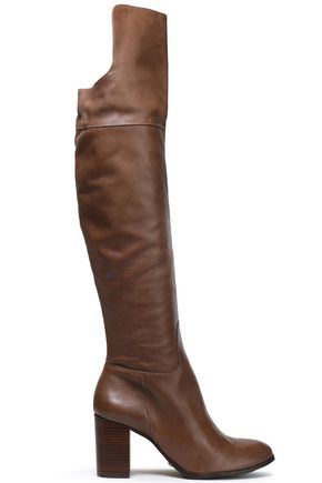 SCHUTZ Leather over-the-knee boots