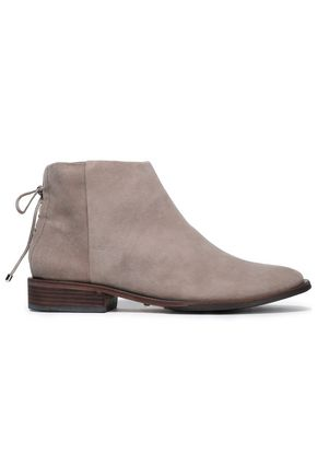 SCHUTZ Lace-up suede ankle boots