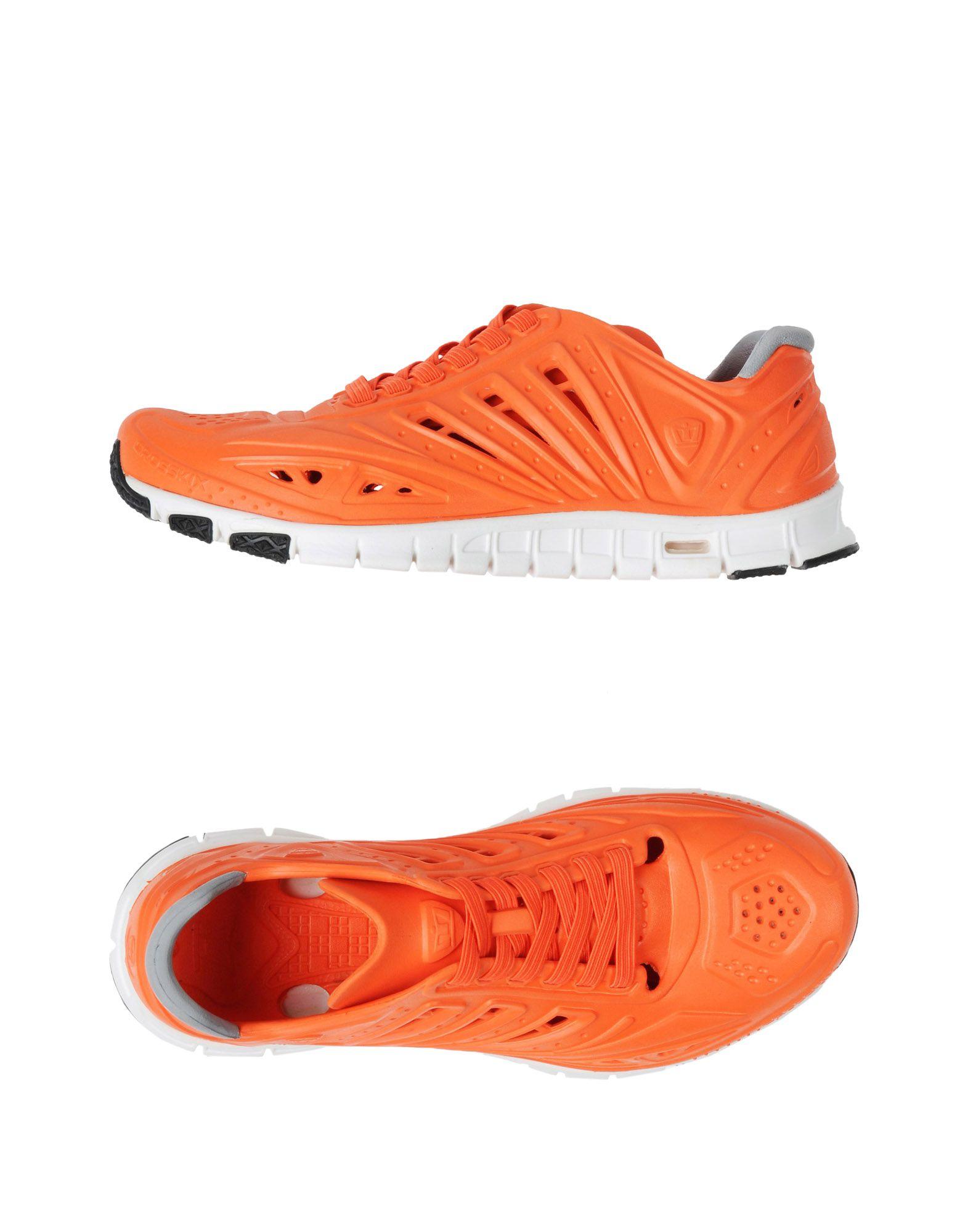 《送料無料》CROSSKIX メンズ スニーカー&テニスシューズ(ローカット) オレンジ 5 ゴム