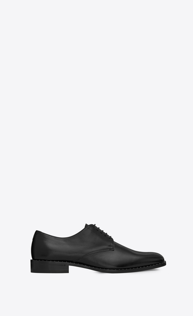 SAINT LAURENT Classic Shoes Man montaigne 25 derby shoe in black studded moroder leather a_V4
