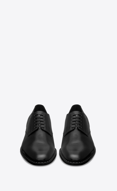 SAINT LAURENT Classic Shoes Man montaigne 25 derby shoe in black studded moroder leather  b_V4