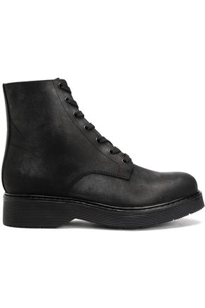 VINCE. Leather platform ankle boots