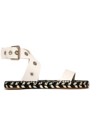 PROENZA SCHOULER Eyelet-embellished leather espadrille sandals