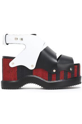4e0c9c451a9 PROENZA SCHOULER Woven leather platform sandals ...