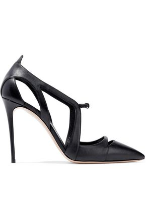 CASADEI Cutout leather pumps