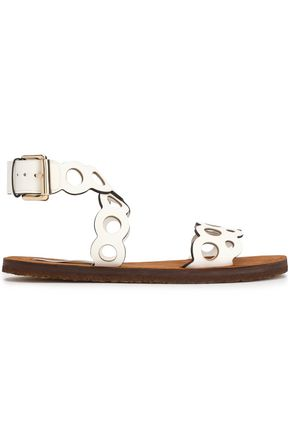 STELLA McCARTNEY Laser-cut faux leather sandals