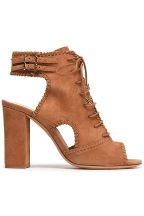 ALEXANDRE BIRMAN Lace-up cutout suede sandals