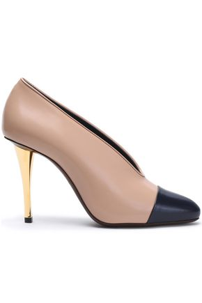 LANVIN Two-tone leather pumps