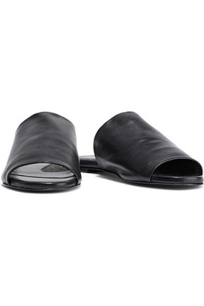 83186c2bc10e ROBERT CLERGERIE Gato leather slides  ROBERT CLERGERIE Gato leather slides  ...