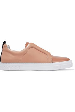 PIERRE HARDY Smooth and patent-leather slip-on sneakers