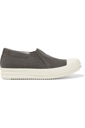 RICK OWENS Canvas slip-on sneakers