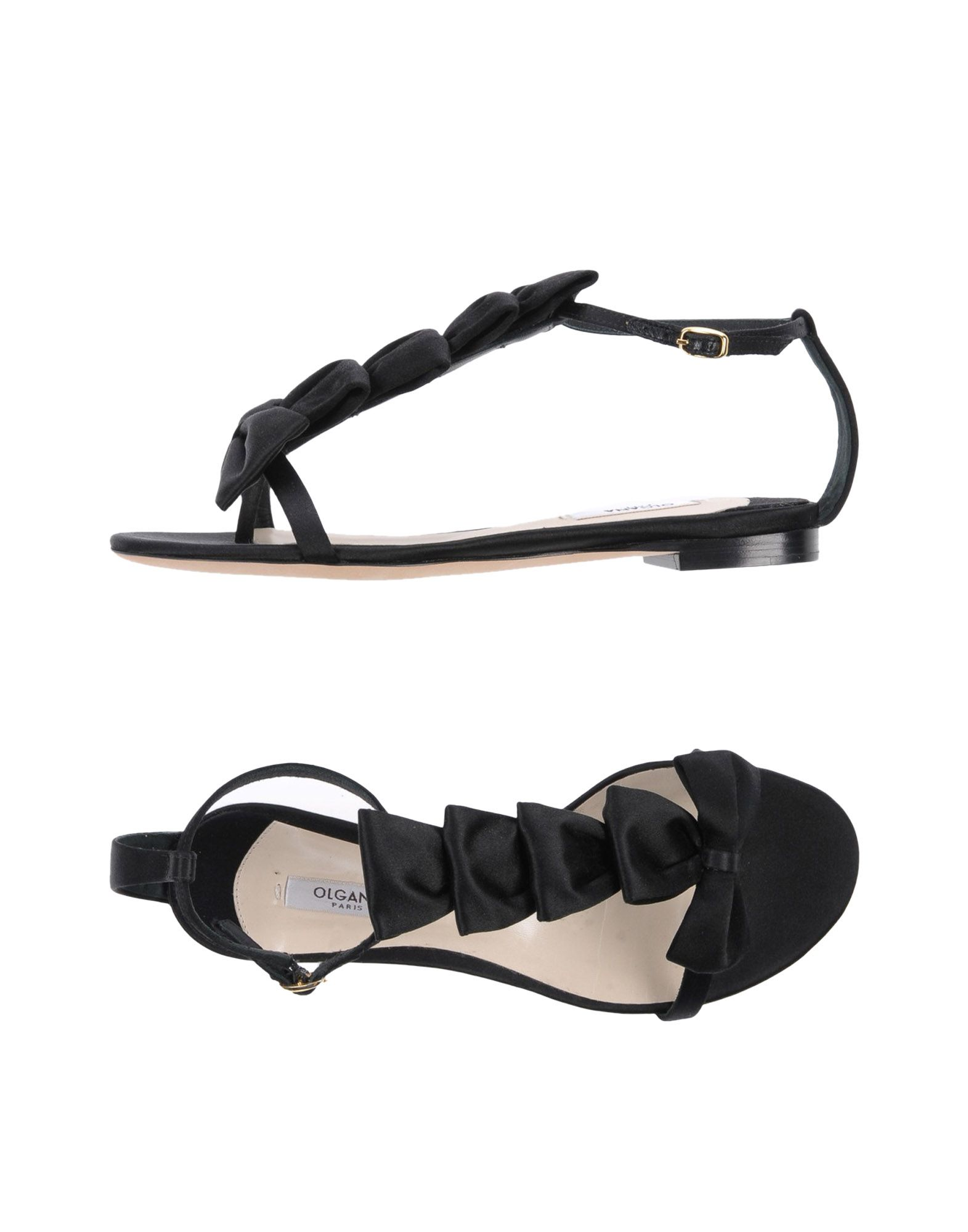 OLGANA PARIS Flip Flops in Black