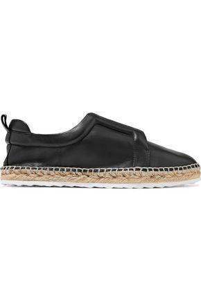 PIERRE HARDY Leather espadrille slip-on sneakers