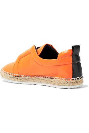 PIERRE HARDY Neon leather espadrille slip-on sneakers