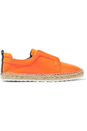 PIERRE HARDY Leather espadrille slip-on sneakers