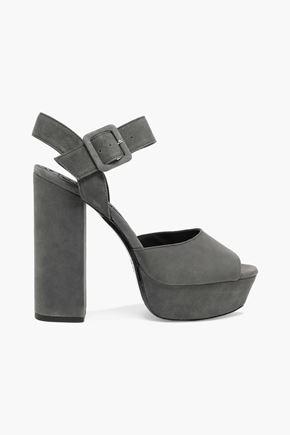 ALICE+OLIVIA Lily suede platform sandals