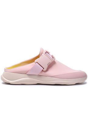 CHRISTOPHER KANE Leather-trimmed neoprene slip-on sneakers