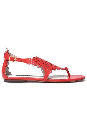 ALICE+OLIVIA Laser-cut leather sandals