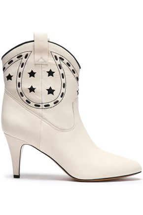 MARC JACOBS Laser-cut leather ankle boots