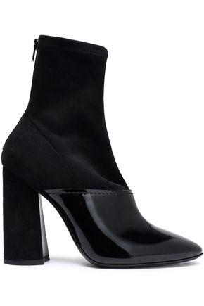 3.1 PHILLIP LIM Patent-leather and suede sock boots