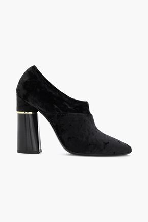 3.1 PHILLIP LIM Crushed-velvet ankle boots