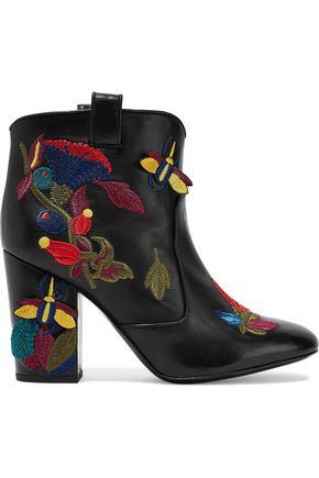 LAURENCE DACADE Embroidered leather ankle boots