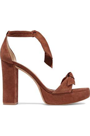 ALEXANDRE BIRMAN Mabeleh knotted suede platform sandals
