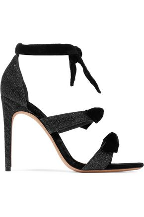 ALEXANDRE BIRMAN Mary knotted velvet and metallic woven sandals