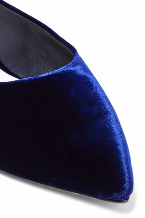 ALICE + OLIVIA Abbey velvet slippers