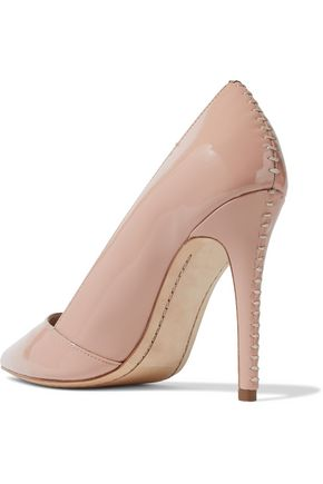 ALICE + OLIVIA Dina patent-leather pumps