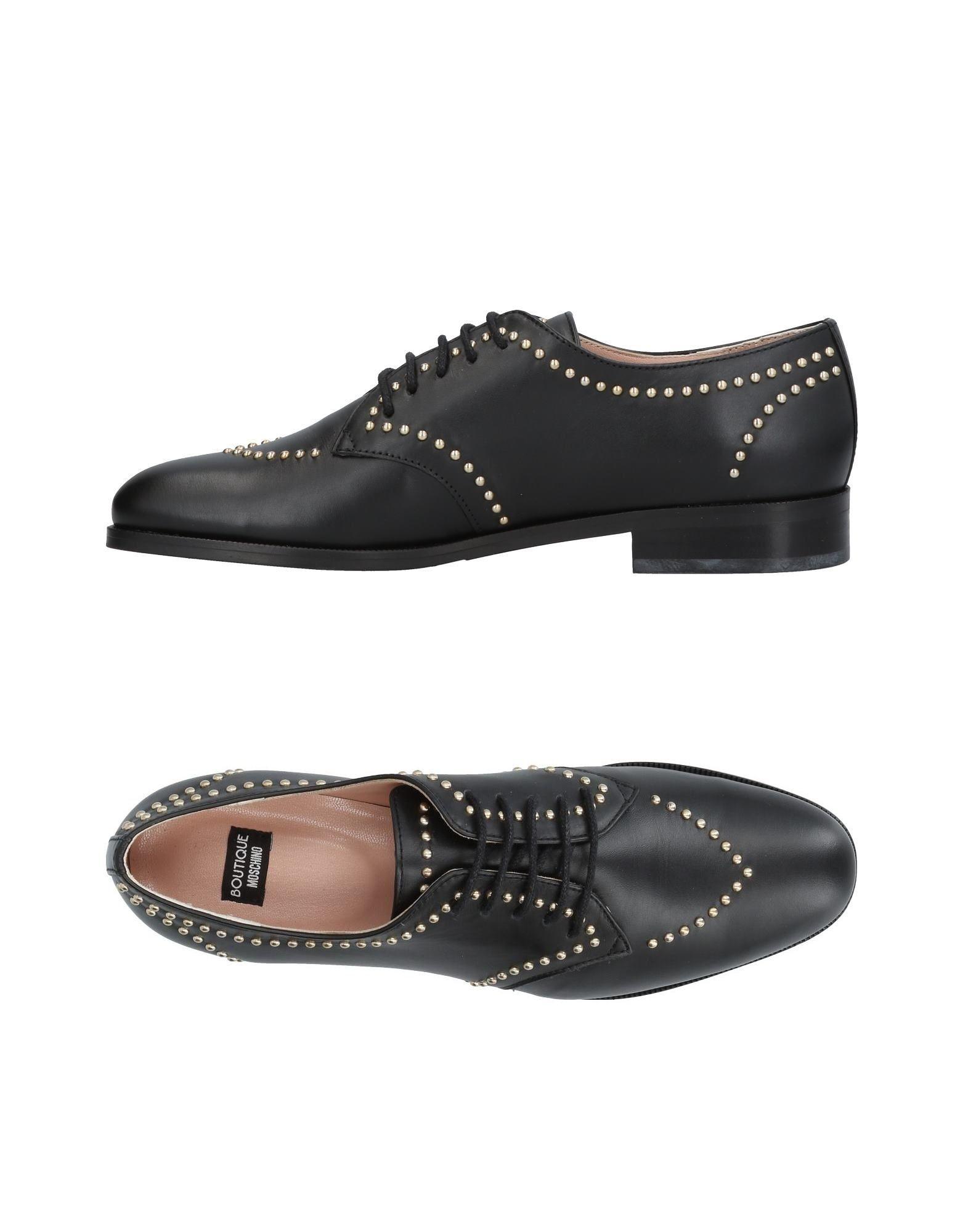 BOUTIQUE MOSCHINO Обувь на шнурках цены онлайн
