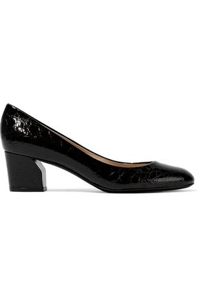 CASADEI Croc-effect patent-leather pumps