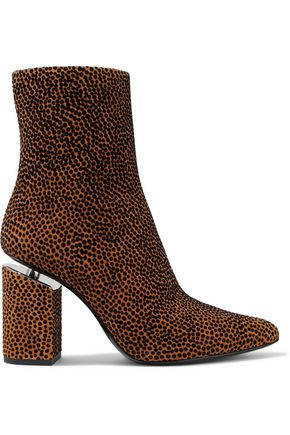 ALEXANDER WANG Kirby flocked suede ankle boots