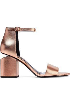 ALEXANDER WANG Abby metallic leather sandals